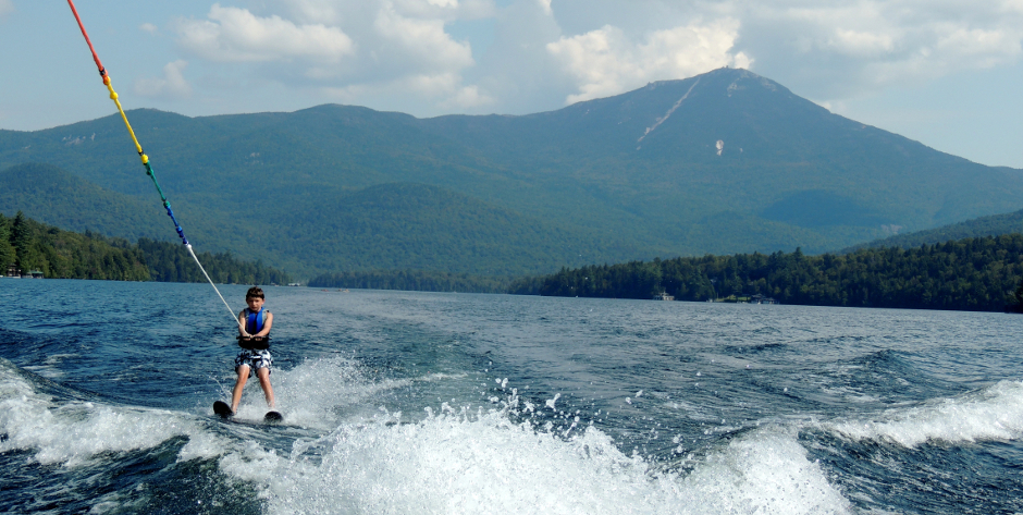 waterskiing, tubing, Lake Placid
