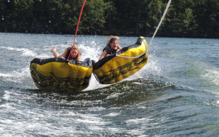 tubing on Lake Placid